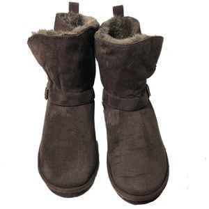 Aeropostale Chocolate Brown Suede Boots w/Buckles